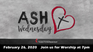 Ash Wed Svc @ Song of Life UMC Sanctuary